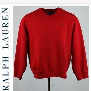 NWOT Polo Red Heavy Sweatshirt